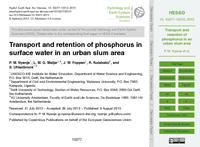 Transport and retention of phosphorus in surface water in an urban slum area