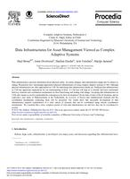 Data Infrastructures for Asset Management Viewed as Complex Adaptive Systems