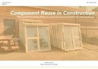 Circular Demolition and Component Reuse in Construction