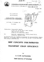 Ship concepts for improved transport chain efficiency