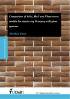 Comparison of Solid, Shell and Plane stress models for simulating Masonry wall-piers systems