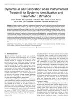Dynamic in situ calibration of an instrumented treadmill for systems identification and parameter estimation