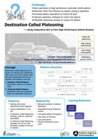 Destination celled platooning of cooperative adaptive cruise control vehicles for high-performance traffic streams (poster)