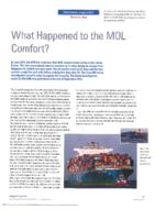 What Happened to the MOL Comfort