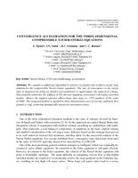 Convergence Acceleration for the Three Dimensional Compressible Navier-Stokes Equations