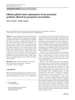 Efficient global robust optimization of unconstrained problems affected by parametric uncertainties