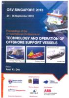 Contents of the Proceedings of the 5th International Conference on Technology and Operation of Offshore Support Vessels, OSV Singapore 2013