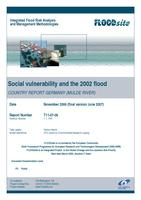 Social vulnerability and the 2002 flood. Country report Germany (Mulde river)