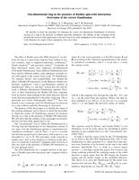 One-dimensional ring in the presence of Rashba spin-orbit interaction: Derivation of the correct Hamiltonian