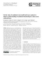 On the value of combined event runoff and tracer analysis to improve understanding of catchment functioning in a data-scarce semi-arid area