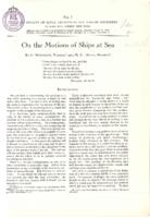 On the motions of ships at sea