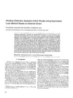 Welding distortion analysis of hull blocks using equivalent load method based on inherent strain