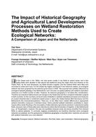The Impact of Historical Geography and Agricultural Land Development Processes on Wetland Restoration Methods Used to Create Ecological Networks: A Comparison of Japan and the Netherlands