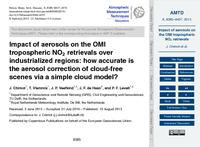 Impact of aerosols on the OMI tropospheric NO2 retrievals over industrialized regions: How accurate is the aerosol correction of cloud-free scenes via a simple cloud model? (discussion paper)