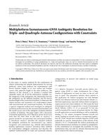 Multiplatform Instantaneous GNSS Ambiguity Resolution for Triple- and Quadruple-Antenna Configurations with Constraints
