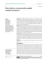 How valid are commercially available medical simulators?