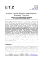 Modelling Traveller Behaviour under Emergency Evacuation Conditions