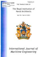 Transactions of the International Journal of Maritime Engineering