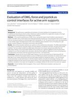 Evaluation of EMG, force and joystick as control interfaces for active arm supports