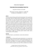 Teaching pss in business practice: A win-win-win approach