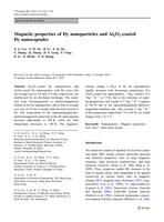 Magnetic properties of Dy nanoparticles and Al2O3-coated Dy nanocapsules