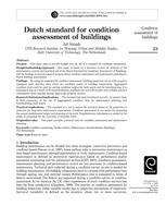 Dutch standard for condition assessment of buildings