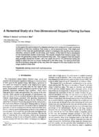 A numerical study of a two-dimensional stepped planing surface