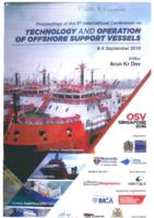 Contents of the Proceedings of the 6th International Conference on Technology and Operation of Offshore Support Vessels, OSV Singapore 2016