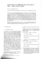 Second order wave diffraction forces and runup by finite - infinite element method