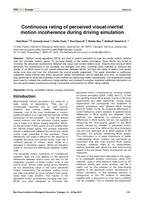 Continuous rating of perceived visual-inertial motion incoherence during driving simulation