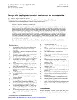 Design of a deployment rotation mechanism for microsatellite
