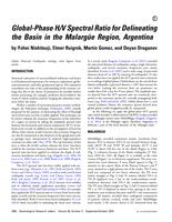 Global-phase H/V spectral ratio for delineating the basin in the Malargüe Region, Argentina