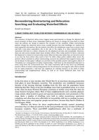 Reconsidering restructuring and relocation: Searching and evaluating waterbed effects (draft version)