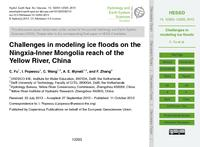 Challenges in modeling ice floods on the Ningxia-Inner Mongolia reach of the Yellow River, China