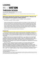 Improving innovation strategic decision-making through the collaboration with design consultancies
