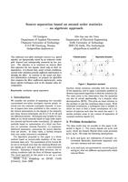 Source separation based on second order statistics: An algebraic approach