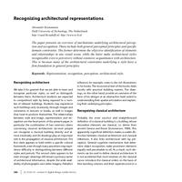 Recognizing architectural representations