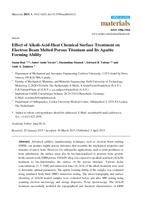 Effect of Alkali-Acid-Heat Chemical Surface Treatment on Electron Beam Melted Porous Titanium and Its Apatite Forming Ability