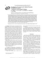 Investigation of Corrosion and Cathodic Protection in Reinforced Concrete. I: Application of Electrochemical Techniques