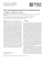 Water saving through international trade of agricultural products