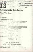 Asymptotic Methods