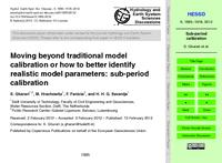 Moving beyond traditional model calibration or how to better identify realistic model parameters: Sub-period calibration