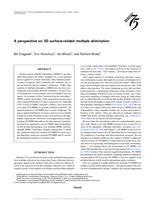 A perspective on 3D surface-related multiple elimination