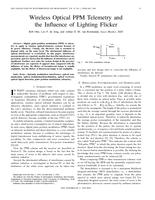 Wireless optical PPM telemetry and the influence of lighting flicker