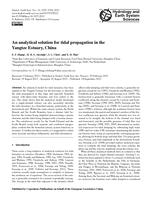 An analytical solution for tidal propagation in the Yangtze Estuary, China