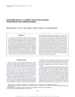 Converted waves in a shallow marine environment: Experimental and modeling studies