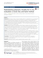 Radiolabeling polymeric micelles for in vivo evaluation: A novel, fast, and facile method