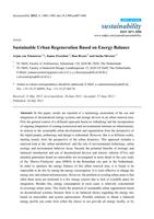 Sustainable urban regeneration based on energy balance