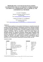 Probabilistic analysis of manufacturing uncertainties for an automotive turbocharger centrifugal compressor using numerical and experimental methods